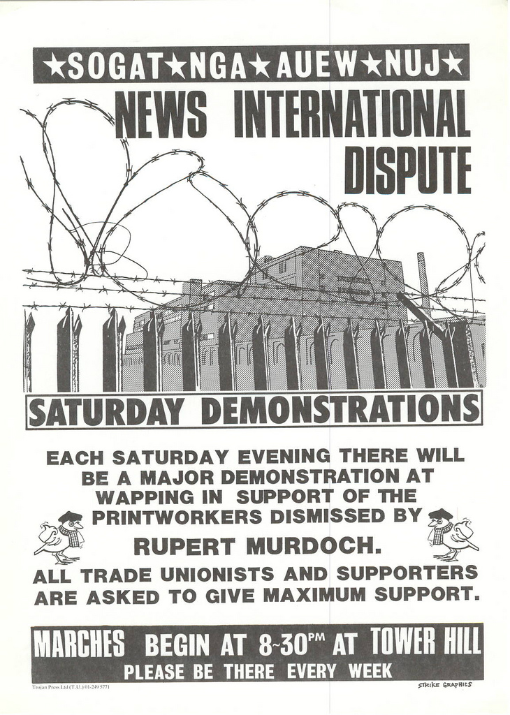 Picture entitled Flyer By Print Supporters 031 from the Wapping Dispute