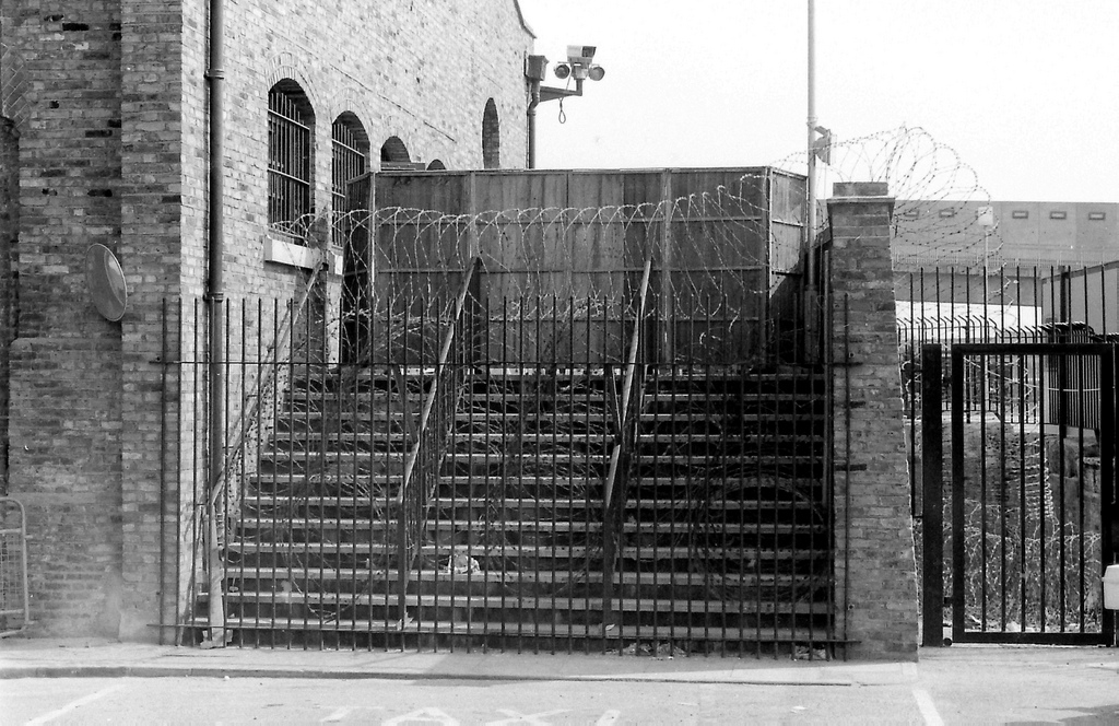 Picture entitled Stairs To Nowhere from the Wapping Dispute